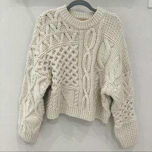 Cable Knit Sweater - Thick